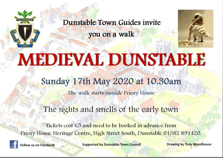 2020 Medieval Dunstable lanscape